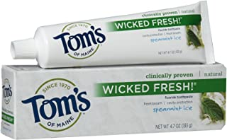 product image for Tom's of Maine, Wicked Fresh! Anticavity Toothpaste, Spearmint Ice - 4.7 Ounce