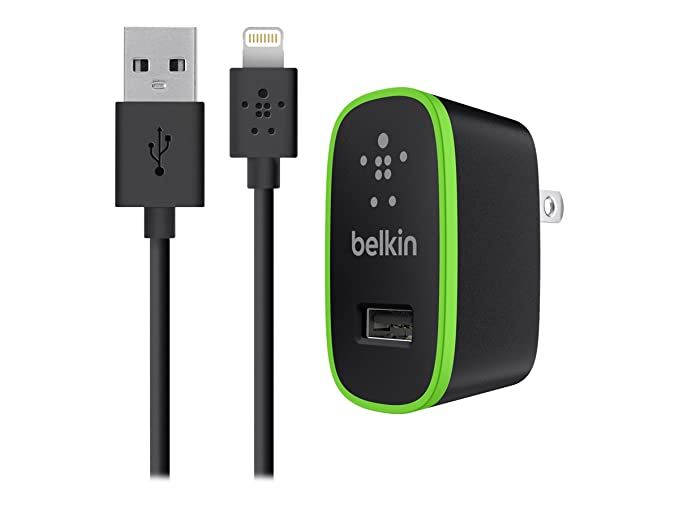 low priced 2e35c 91a34 Belkin Apple Certified MIXIT Home Charger with 4-Foot Lightning Cable (2.1  Amp / 10 Watt), Black