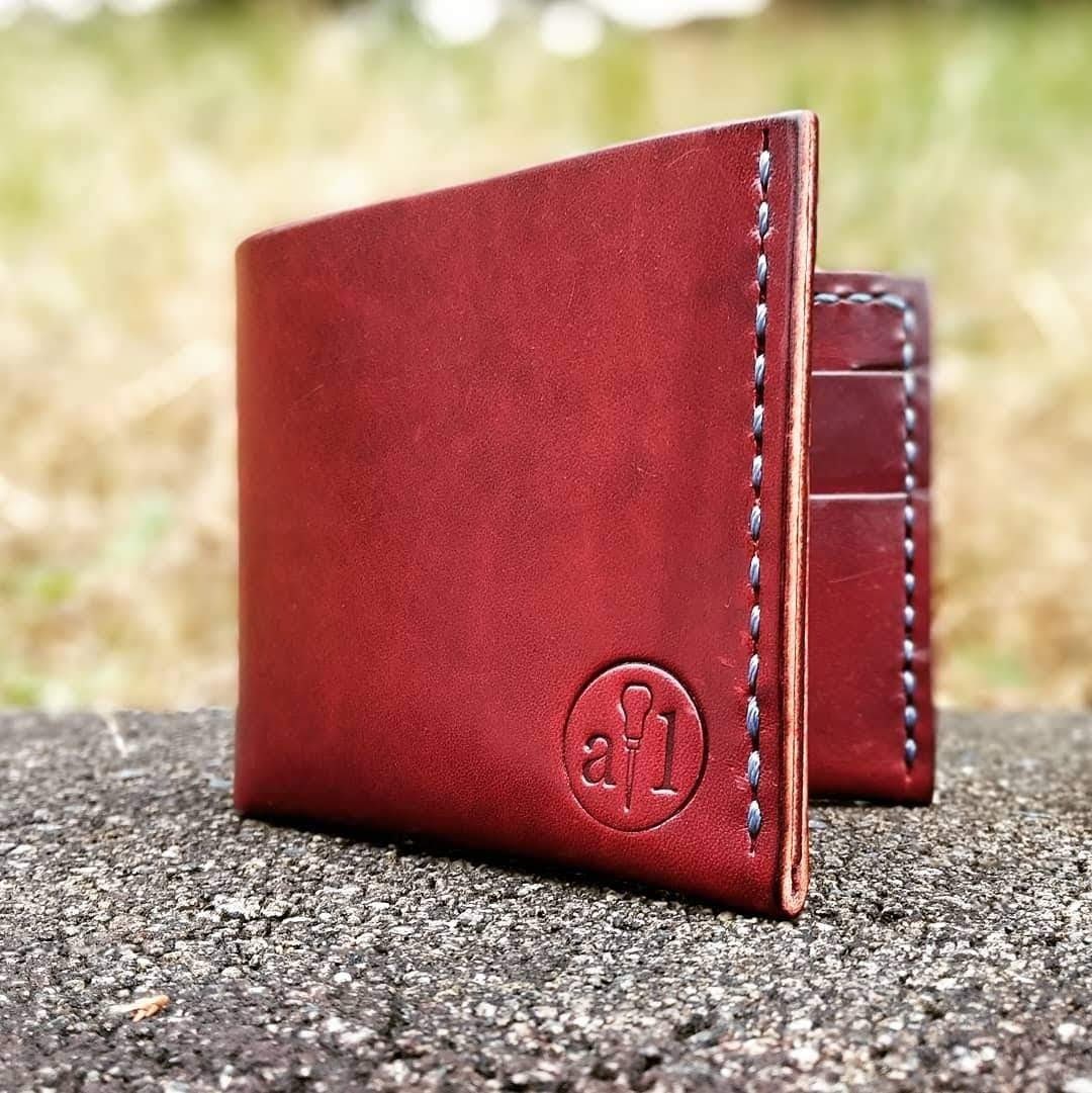 The Teak Handmade Luxury Horween Leather Mouse Pad