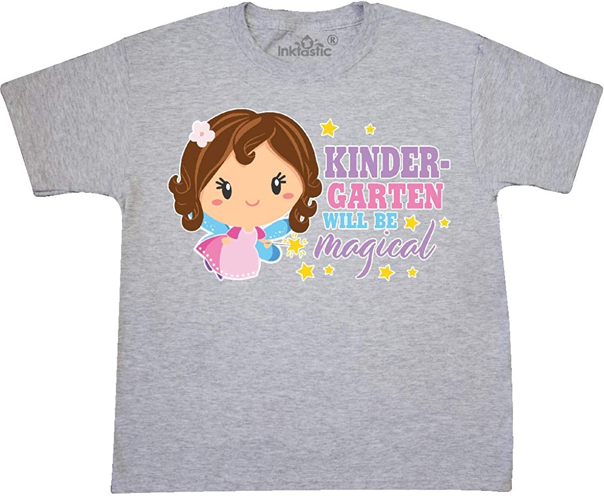 inktastic 1st Grade Will Be Magical with Brown Haired Fairy Toddler T-Shirt
