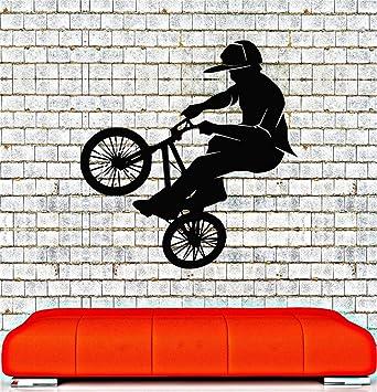 pegatinas de pared star wars Bicicleta BMX Teen Boys Room Biker ...