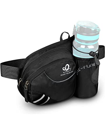e2c920ecf19e WATERFLY Hiking Waist Bag Fanny Pack with Water Bottle Holder for Men Women  Running   Dog