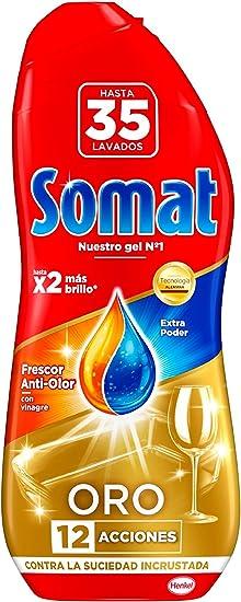Somat Oro Gel Lavavajillas Vinagre - 35 Lavados (630 ml): Amazon ...