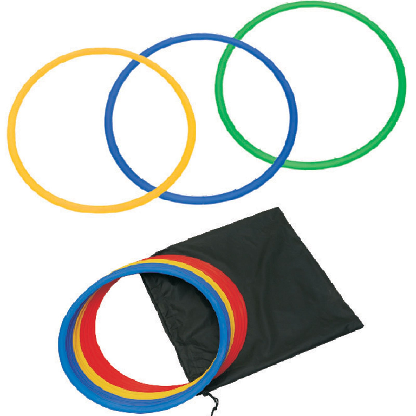Cougar Speed & Agility Soccer Training Rings with FREE Bag - Set of 12 (18 inches) by CougarFit (Image #1)