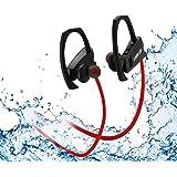 LOBKIN Auriculares inalámbricos Deportivos Bluetooth Resistente al Sudor IPX4(Rojo)