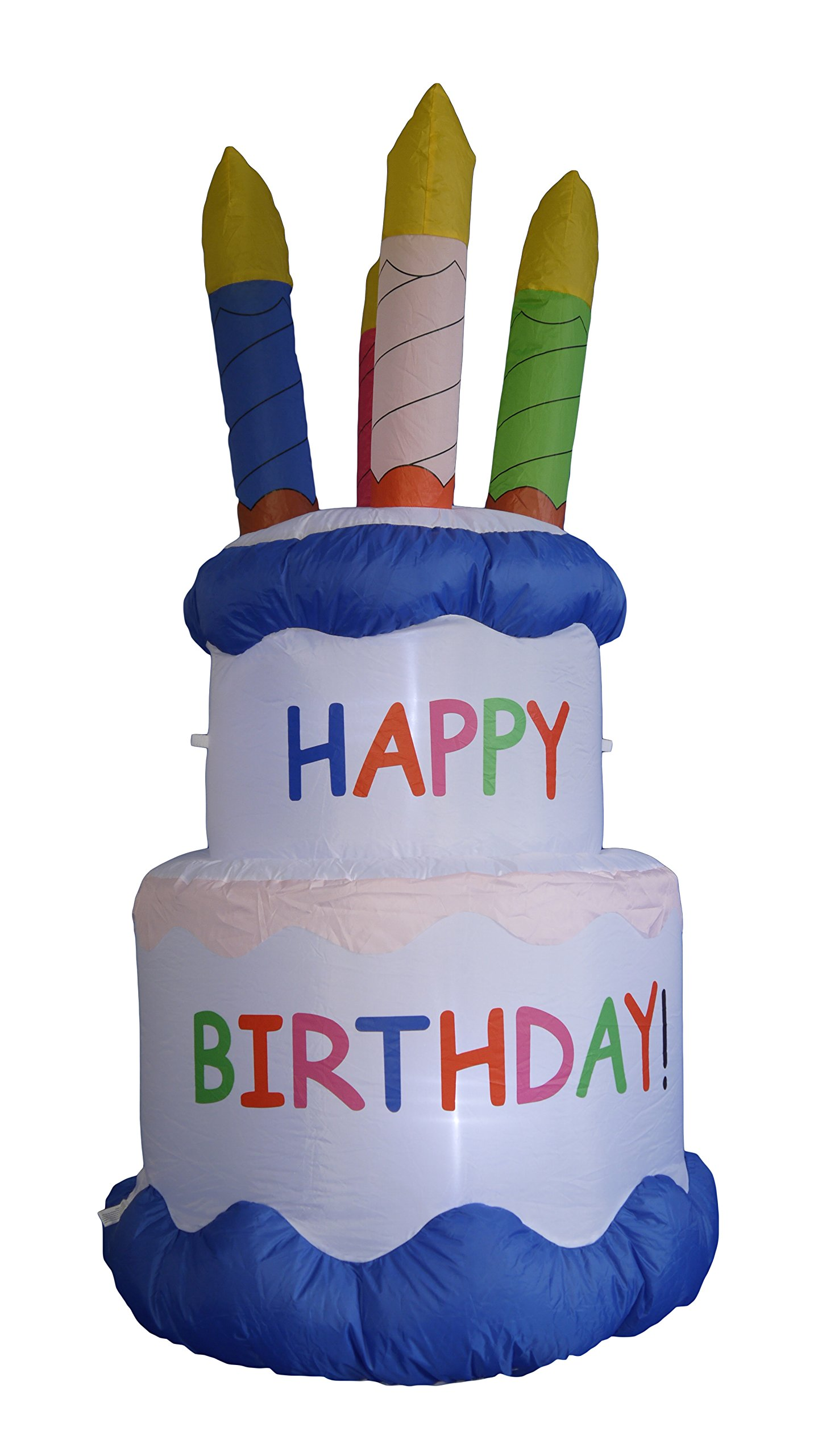 6 Foot Inflatable Happy Birthday Cake with Candles Yard Decoration by BZB Goods (Image #3)