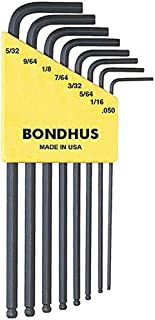 """product image for Bondhus 10932 Set of 8 Balldriver L-wrenches, sizes .050-5/32"""""""