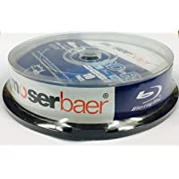 Moserbaer Blue-Ray Disc Recordable BD- R 25GB / 6X - 135 Min Scratch Guard Blue Ray Disc 10 Pack