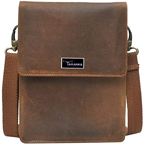 Buy Tamanna Men   Women Casual Brown Genuine Leather Sling Bag Online at  Low Prices in India - Amazon.in b6231f7fcf270