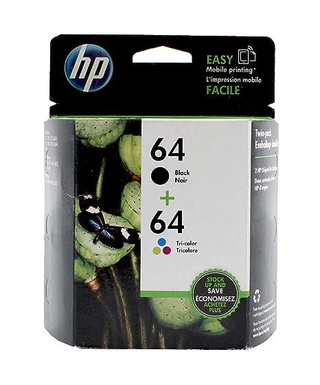 Amazon.com: HP 64 Negro & Tri-color Original Ink, 2 Pack, y ...