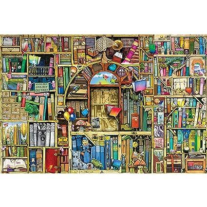Amazon.com: XF Puzzles, Magical Singular Librero, 300 piezas ...