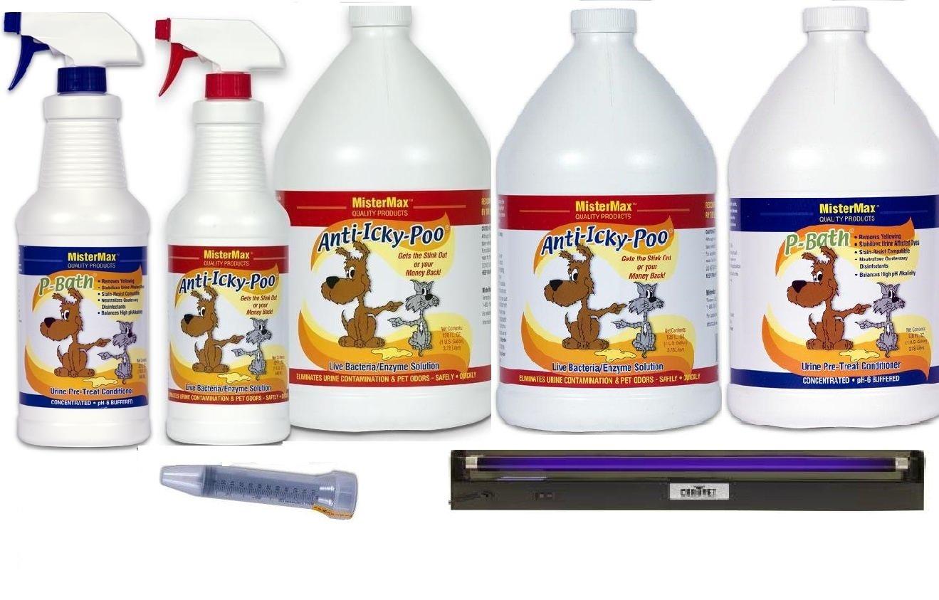 Anti Icky Poo Odor Remover Pro Kit Plus with 18'' Blacklight