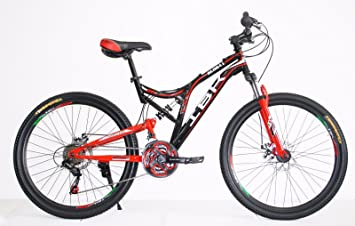 Bicicleta MTB IBK de 26 pulgadas con doble amortiguador, 21 Vel ...