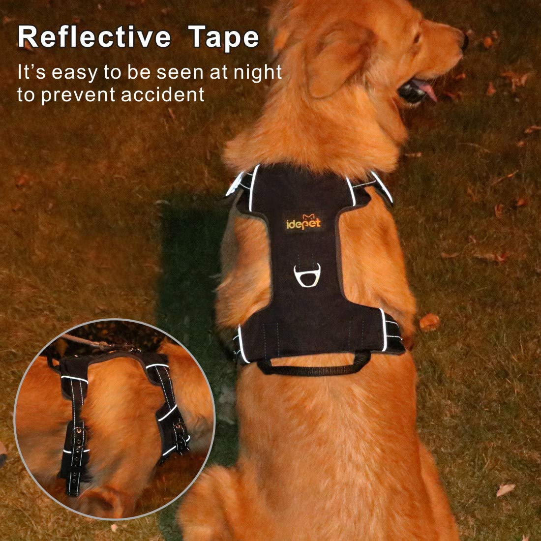 Design a Catena in Acciaio Anti-masticazione Idepet Guinzaglio per Cani a Scomparsa per impieghi gravosi guinzaglio da 16 Piedi per Cani da Passeggio Rottura e Blocco