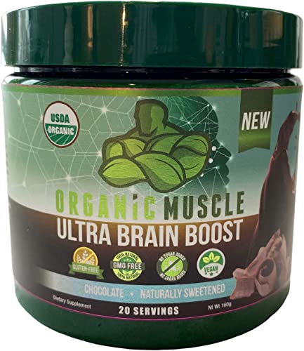 Ultra Brain Boost USDA Organic Nootropic Brain Support Supplement Improve Focus, Concentration, Memory Boost Cognitive Function Supports Mind Enhancement Brain Health 100 Natural Vegan
