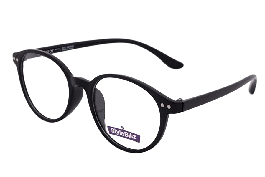 Amazon.com: Stylebiz Unisex Prescription Ready Eyeglasses Frame with ...