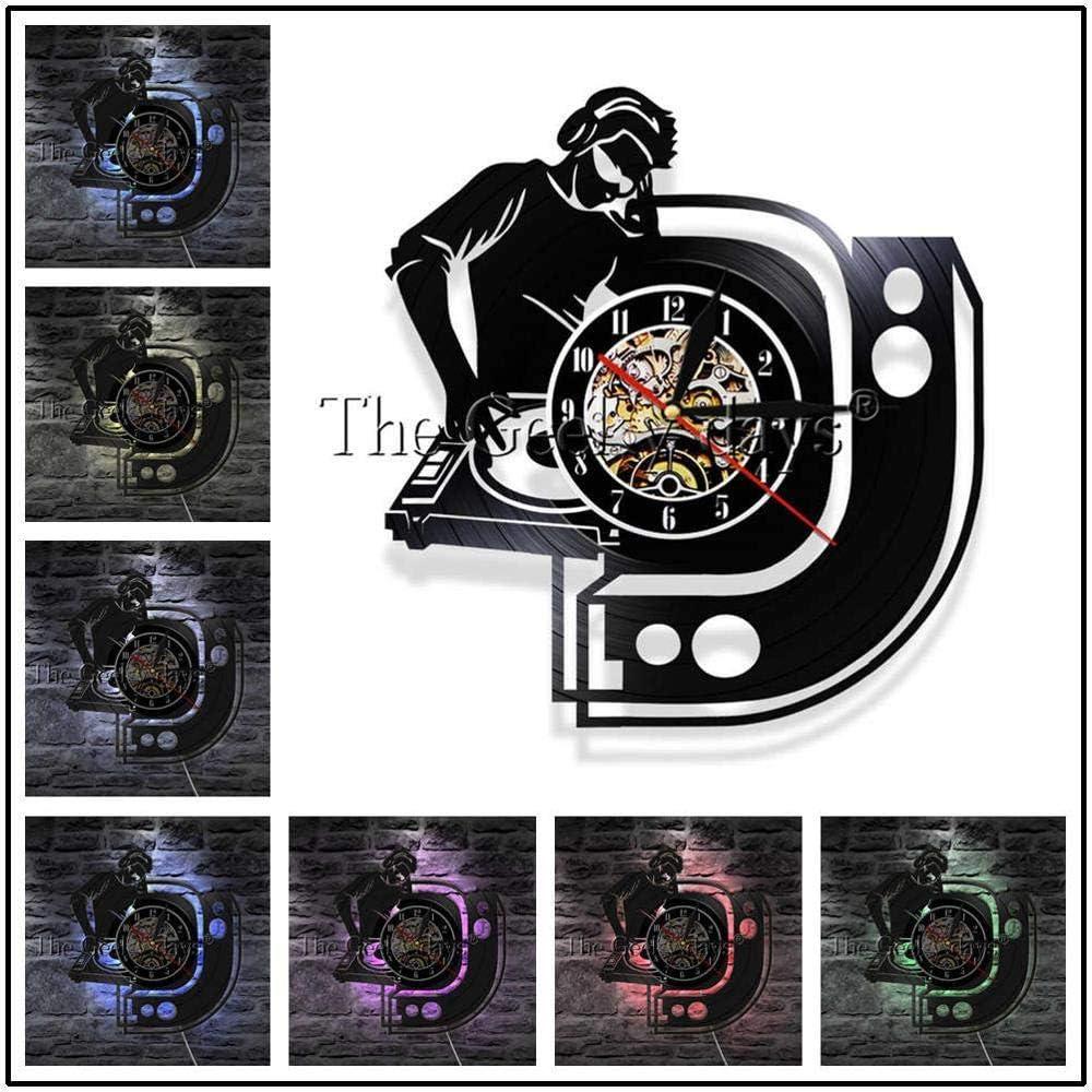txyang 1 Unidad DJ Record Player Mixer LP Disco de Vinilo Reloj de ...