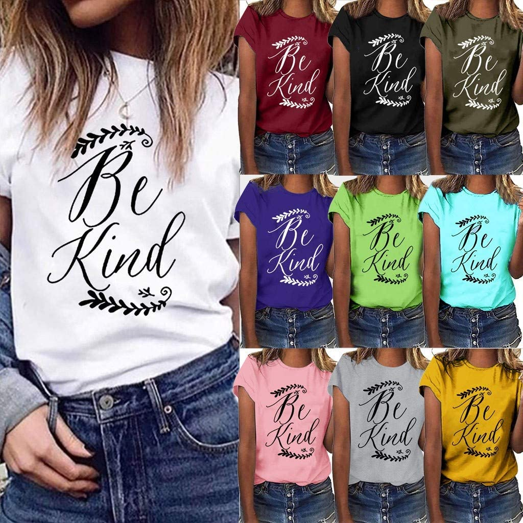 Women T-Shirt Short Sleeve Loose Tunic Tops Summer Print Graphic Blouse Comfy Casual Tees Vedolay Womens Tops and Blouses
