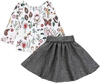 SamMoSon♥♥Falda Camisetas Manga Larga para Niña Vestido Princesa ...