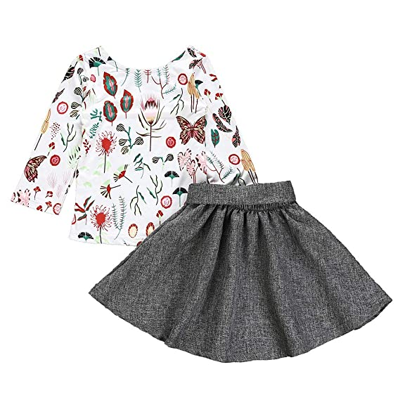 SamMoSon♥♥Falda Camisetas Manga Larga para Niña Vestido Princesa Traje  Navidad Vestidos Bebe Invierno 5e36aa364ec2