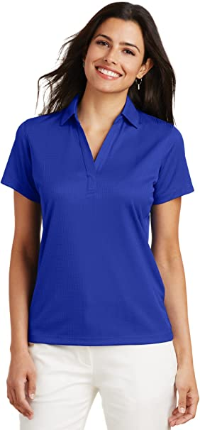 Port Authority L528 Womens Short Sleeve Open Placket Breathable Polyester .