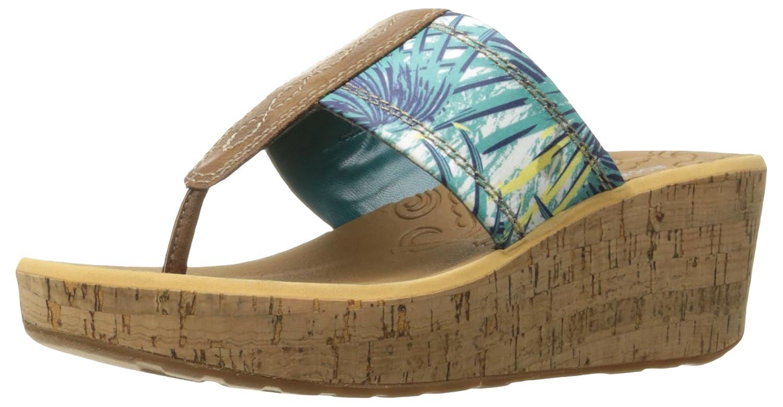 Rockport Women's Lanea Thong Platform Sandal B01JIPDA0E 8 W US|Teal Floral
