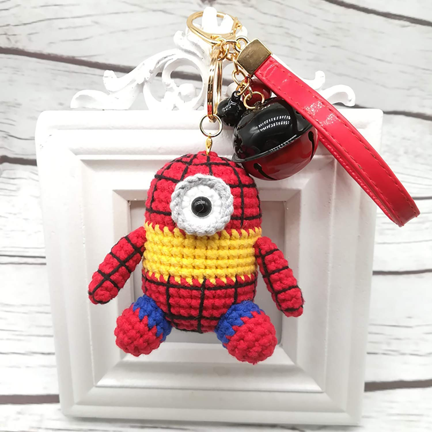 Ravelry: Crocheted Minion keychain pattern by Caits CrochetedDolls | 1500x1500