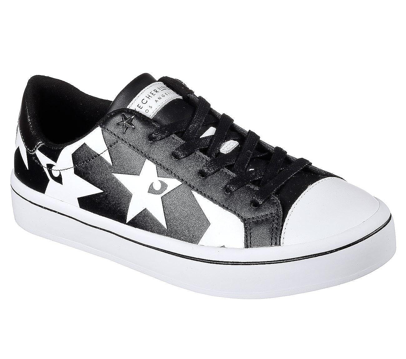 Skechers Hi-Lite Starry Eyed damen Court-Style Turnschuhe schwarz Weiß 9