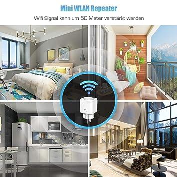 ECVILLA Smart Plug (Enchufe inteligente wifi), compatible con con Amazon Alexa y Google Home e IFTTT, sin necesidad de concentrador, controle sus ...