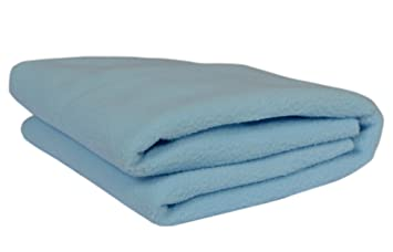 Trance Home Linen Cotton Dry Sheets for Baby, Small (Sky Blue)