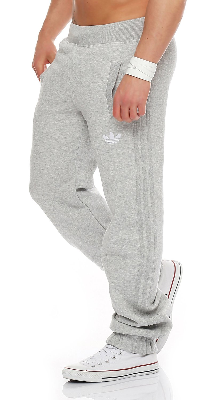 adidas SPORT FLEECE TRACKPANT Hose grau adidas Originals adidas SPO Fleece Pant V33023