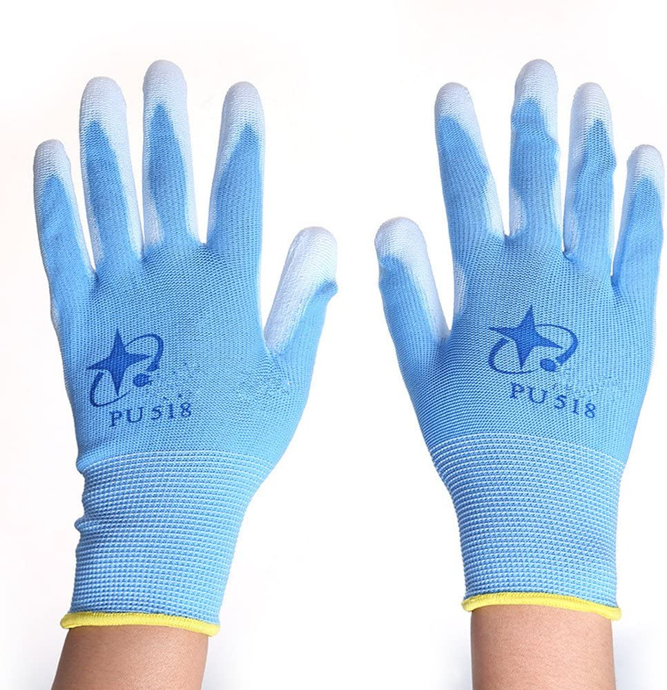 Carbon Fiber Electrostatic Discharge Anti-Static ESD Gloves for PC Building Electronic Repairing Polyurethane Palm Coated for Work and Handling 12 Pack Medium