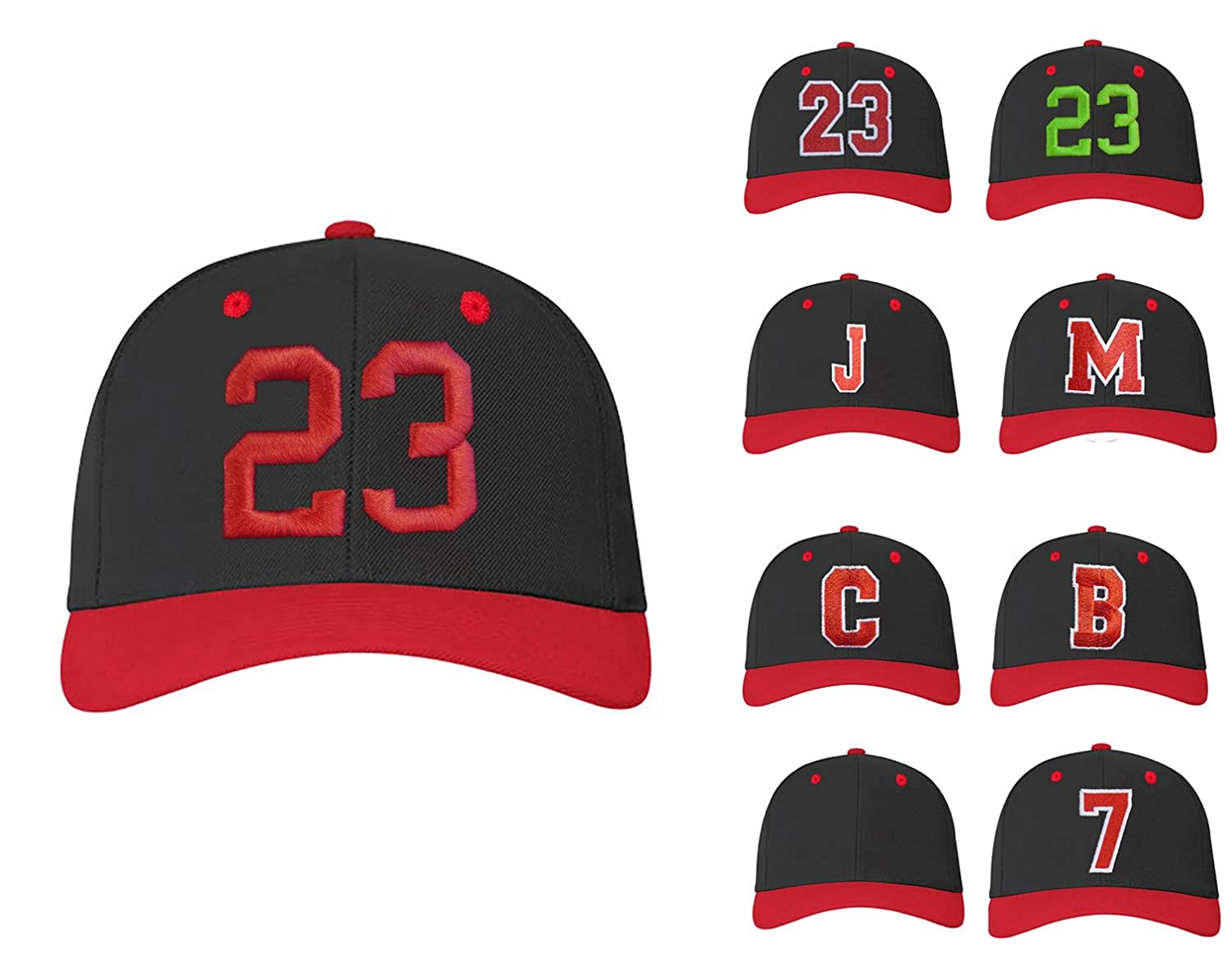 Amazon.com: 4sold Abc Letter And 23 Numbers Snapback Cap In Red Black / White With Letters A To Z One Size 23 3D Blue: Sports & Outdoors