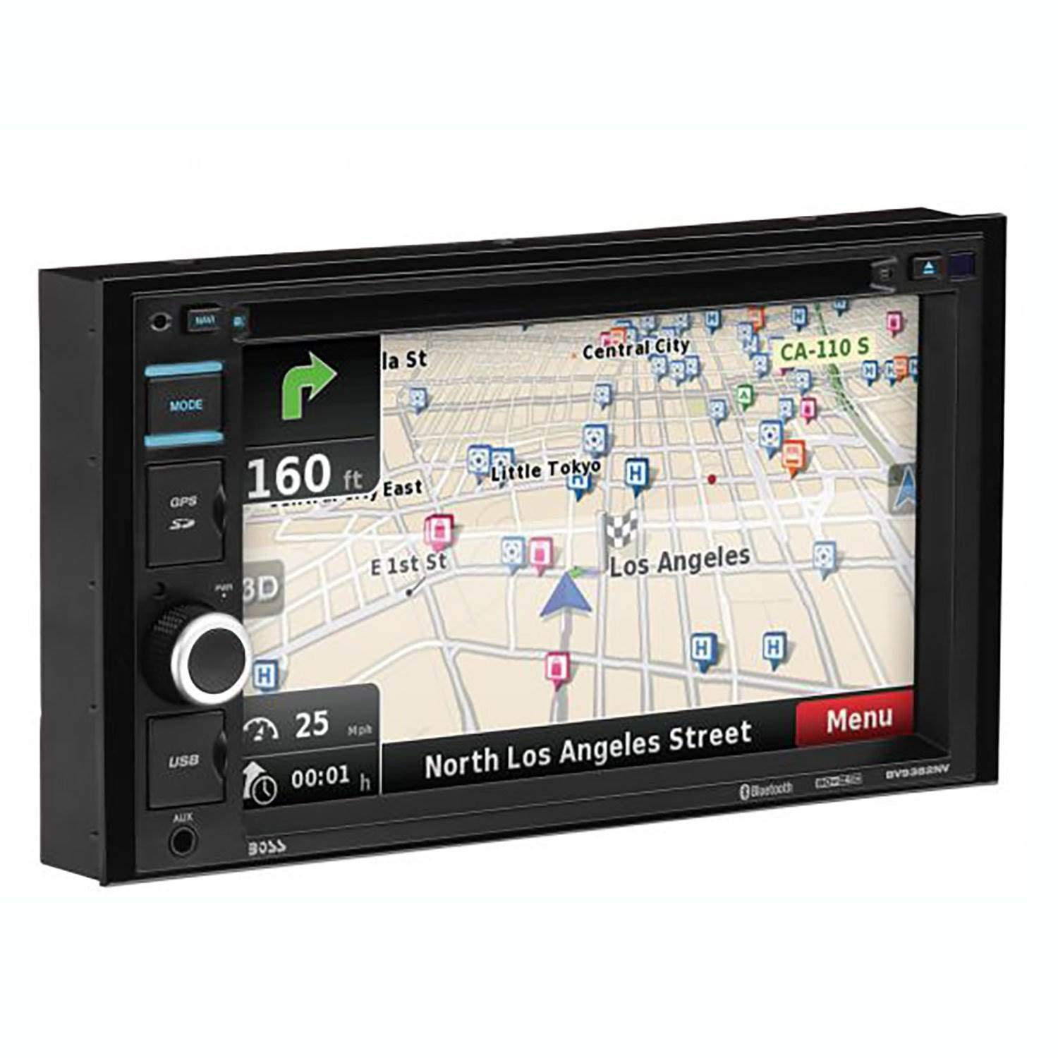BOSS Audio Systems BV9382NV Double Din, Touchscreen, Bluetooth, Navigation GPS, DVD CD MP3 USB SD AM FM Car Stereo, 6.2 Inch Digital LCD Monitor, Wireless Remote by BOSS Audio Systems