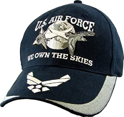 Amazon.com  Air Force USAF We Own the Skies Embroidered Ball Cap ... 122b97cbf79