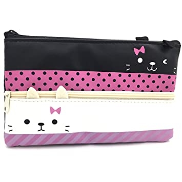 Amazon.com: wyfkymxx Cute Cartoon Cat Pen Bolsa ...