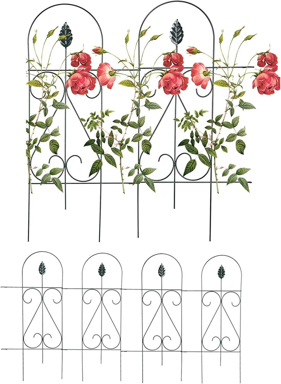 Mr.Garden Fencing Edging Fence Metal Decorative Barrier Panels 9PACK 15