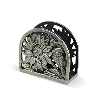 Demdaco 3005051260 Big Sky Carvers Sunflower Metal Napkin Holder, Multicolored