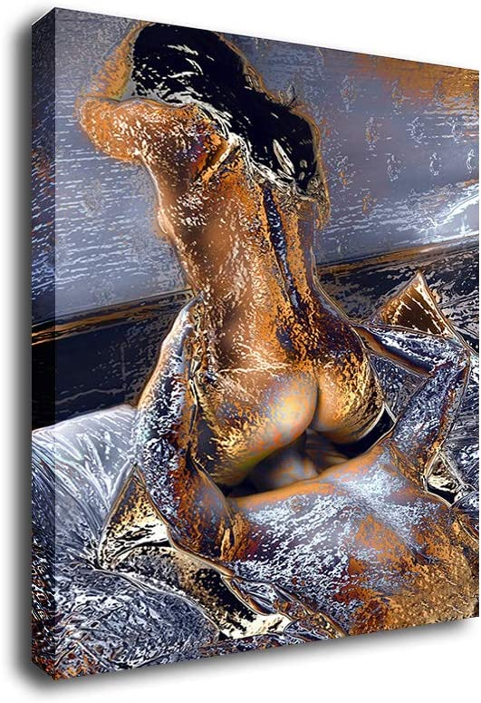 Art Sexy Nudes Erotic Burlesque Oil Painting Prints on Canvas Wall Art Picture for Living Room Home Decorations Frame (12x18inch,Framed)