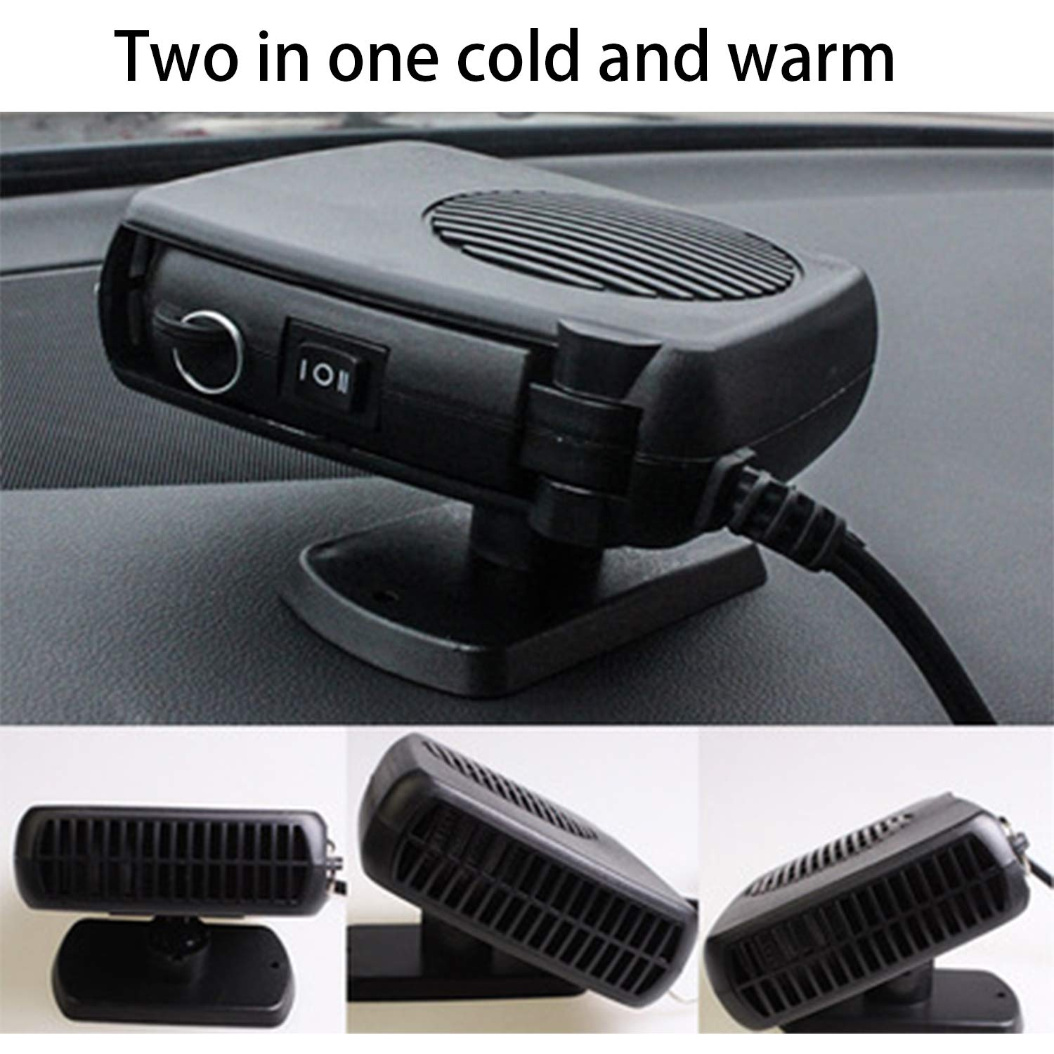 Portable Car Heater Windshield Defroster 12v Car Two-in-one Air Heater Car Heater Black 60w by HEIFEN