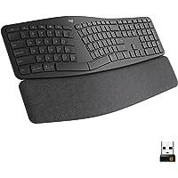 Logitech Ergo K860 Wireless Ergonomic Keyboard with Wrist Rest - Split Keyboard Layout for Windows/Mac, Bluetooth or USB…