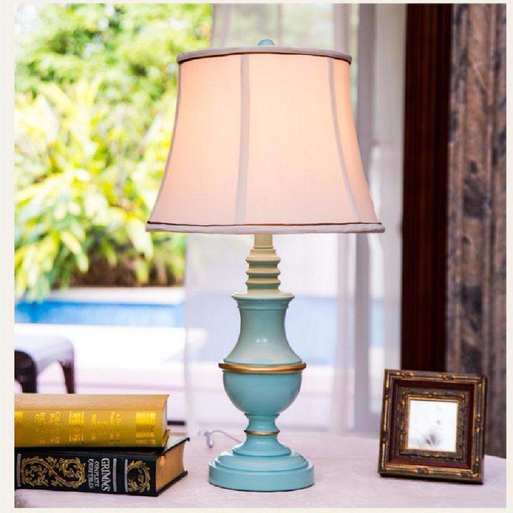 KHSKX Lampada da comodino Camera mediterranea, europea resina lampada, lampada da tavolo di nozze creativo della moda
