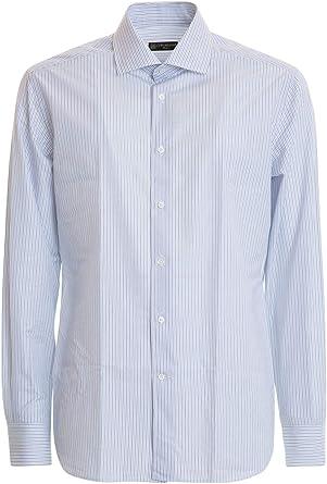 Corneliani Camisa - Azul Claro: Amazon.es: Ropa y accesorios