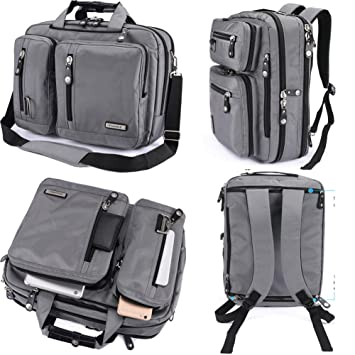 Amazon.com: FreeBiz 18 Inches Laptop Briefcase Backpack Messenger ...