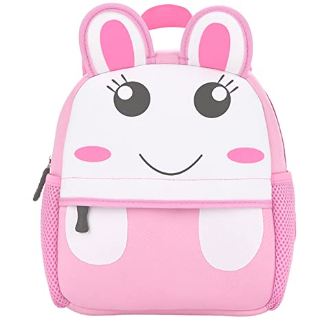 2aa8aa4be98 Amazon.com   MODARANI Baby Girl s Pink Rabbit Pattern 15 inch Preschool  Backpack Water Resistance Bookbag Daypack (rabbit)   Kids  Backpacks