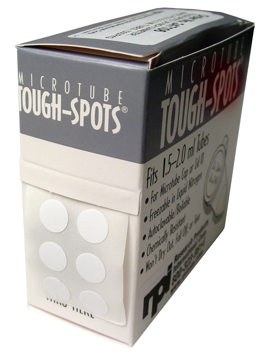 Tough-Tags, 1.28 x 0.5 Inch Labels for 1.5-2.0ml Tubes, White, 1000 per Package