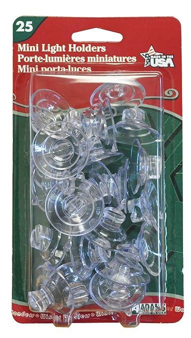 amazoncom adams christmas 7501 00 1040 mini light holder 25 pack home improvement - Christmas Light Holders