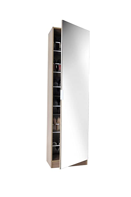 Panoply Furnishings 6ft Mirrored Shoe Cabinet in White Black or Oak - Shoe Storage Rack  sc 1 st  Amazon UK & Panoply Furnishings 6ft Mirrored Shoe Cabinet in White Black or Oak ...
