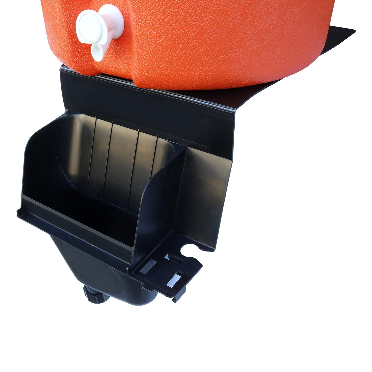 Igloo 5-Gallon Heavy-Duty Beverage Cooler, Orange & Ultimate Drip Catcher Set - Black - Catch All Your Drips, Seeps, Leaks Accidental Pours! by Igloo (Image #5)
