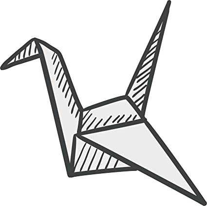 Amazon Simple Pen Sketch Origami Crane Cartoon Vinyl Decal